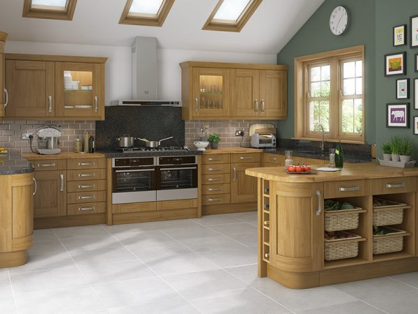 10 Shaker Malton Kitchen in oak