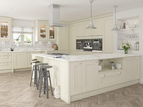 14 Shaker Stanbury Kitchen in alabaster