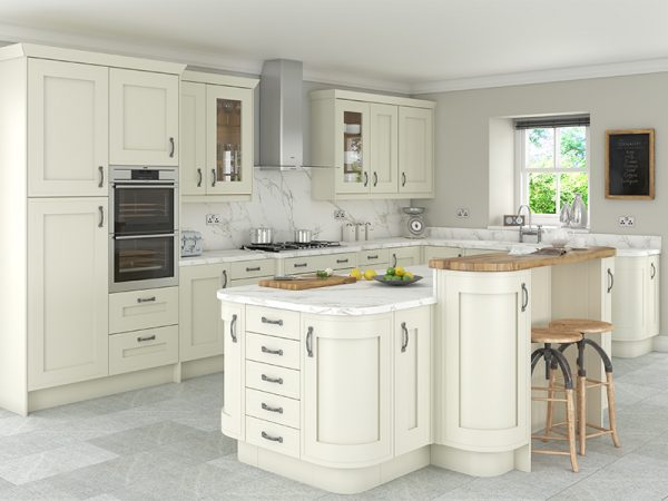 16 Shaker Welton Kitchen in alabaster