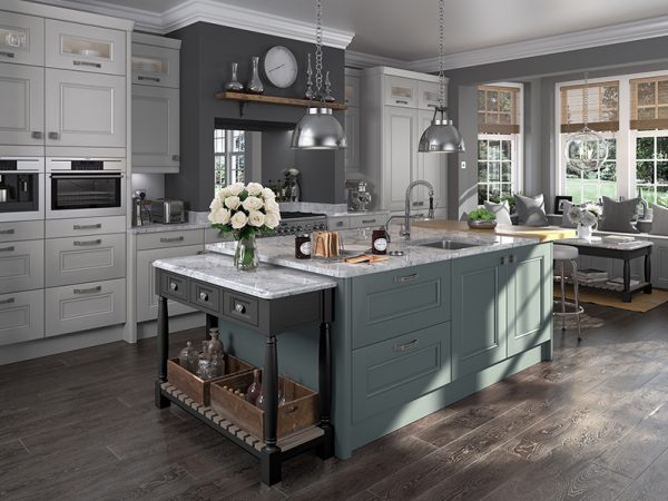 26 Bedale kitchen in Oval Room Blue Blackened