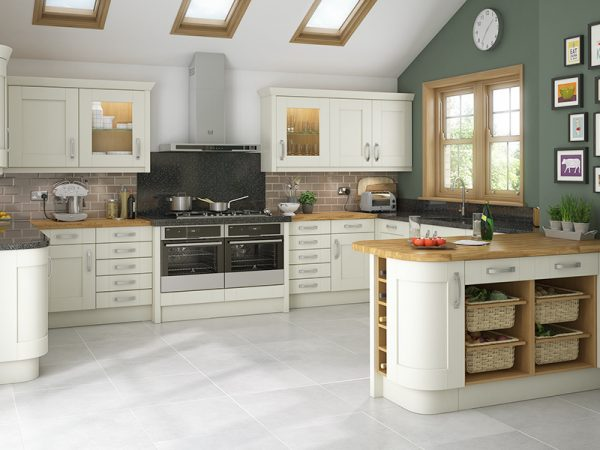 8 Shaker Malton Kitchen in alabaster
