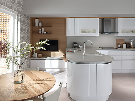 Curved Kitchen Design Worcester