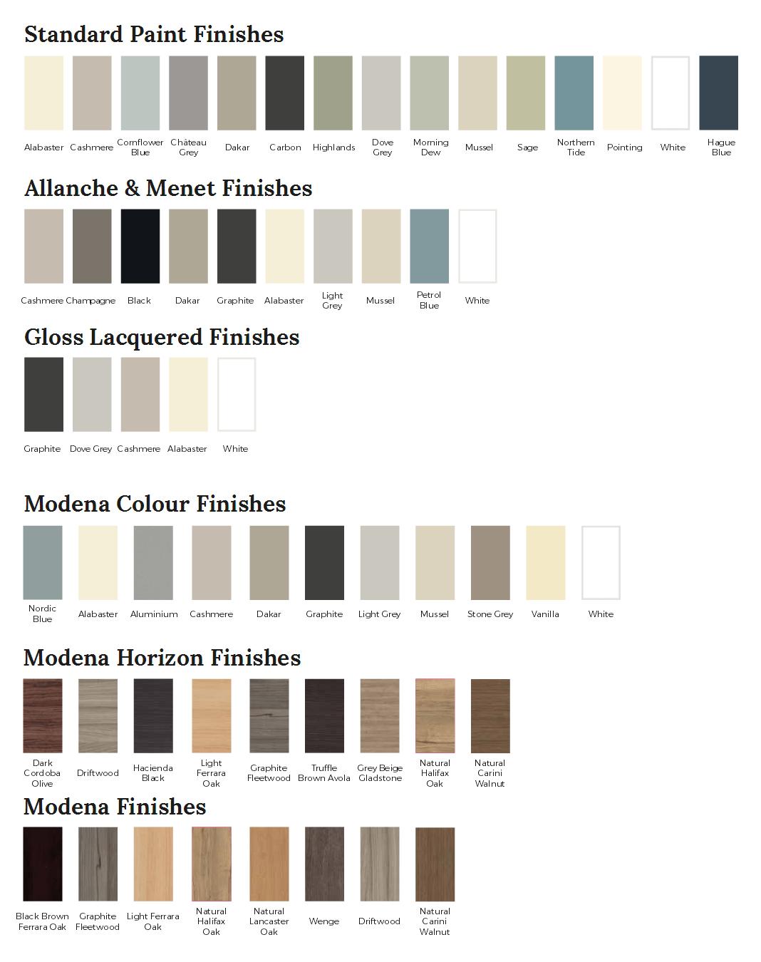 Colour Ranges